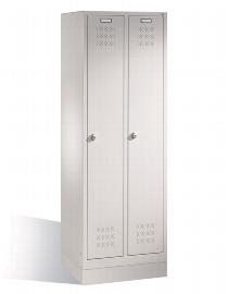 CP Garderobenschrank 12820-20 2 Abteile auf Sockel - Lichtgrau