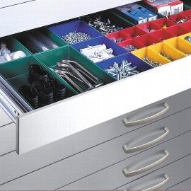 CP Schubladen-Einteilung 7100-5051 mit Kunststoffkästen für Flachablageschrank Serien-7100/7101