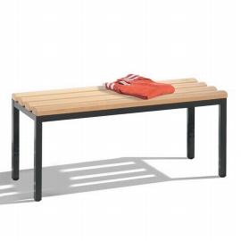 C+P Sitzbank 8050-000 freistehende Sitzbank mit 4 Füßen (HxBxT) 420x1000x353mm Schwarz/Buche