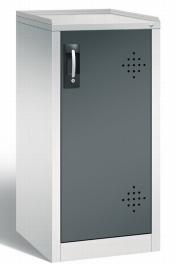 C+P Umwelt-Beistellschrank 8721-315 Acurado mit 2 Stahl-Wannenböden je 10l (HxBxT) 1000x500x500mm Lichtgrau/Schwarzgrau