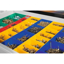 CP Schubladeneinteilungen mit Kunststoffkästen 8921-5713 für Werkzeugschrank B930xT500/600mm