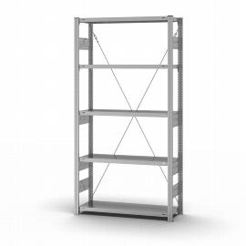 hofe Fachbodenregal Grundregal HZG20310XS zerlegt 5 Böden (HxTxB) 2000x300x1000mm verzinkt