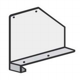 Hofe Fachteiler K432520 (TxH) 250x200mm für 25mm Bodenabkantung Lichtgrau