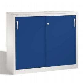 C+P Schiebetürenschrank Sideboard 2046-00 C 2000 Acurado (HxBxT) 1000x1200x400mm Lichtgrau/Enzianblau DBS Hellgrau