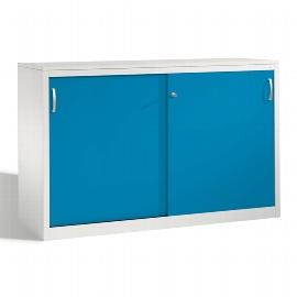 C+P Schiebetürenschrank Sideboard 2156-00 C 2000 Acurado (HxBxT) 1000x1600x500mm Lichtgrau/Lichtblau DBS Hellgrau