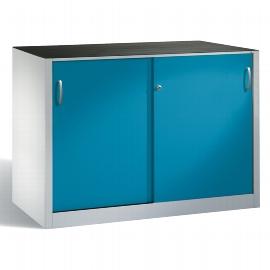CP Schiebetüren Werkzeugschrank 2156-09 innen 2x 1 Boden (HxBxT) 1000x1600x500mm Lichtblau
