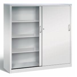 CP Schiebetüren Büroschrank 2158-1200 Sideboard Acurado 2x 4 Ordnerhöhen (HxBxT) 1600x1600x500mm Lichtgrau/Lichtgrau