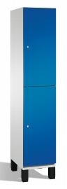 C+P Spind doppelstöckig 45101-10 Cambio auf Füßen 2 Fächer 400mm (HxBxT) 1980x400x525mm Lichtgrau/Enzianblau