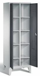 C+P Wäsche-Aufbewahrungsschrank 8012-20B S2000 Classic 2 Abteile auf Füßen (HxBxT) 1850x610x500mm Lichtgrau/Schwarzgrau