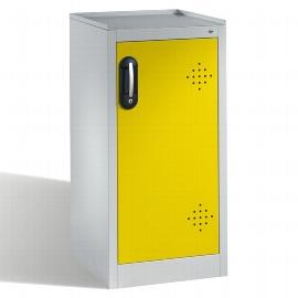 C+P Umwelt-Beistellschrank 8721-316 Acurado mit 2 PE-Wannen je 10l (HxBxT) 1000x500x500mm Lichtgrau/Verkehrsgelb