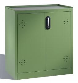C+P Umwelt-Beistellschrank 8721-315 Acurado mit 2 Stahl-Wannenböden je 20l (HxBxT) 1000x930x500mm Resedagrün