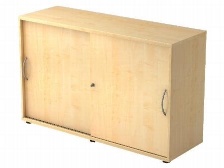 Hammerbacher Schiebetürenschrank 1752S SOLIDplus 2OH abschließbar (BxTxH) 120x40x74,8cm Ahorn Bogengriff