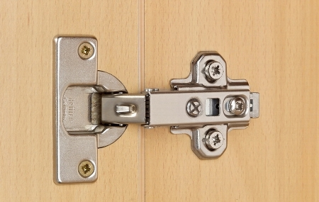 Hammerbacher Glastürenschrank 7100G SOLID 5OH nicht abschließbar (BxTxH) 80x42x200,4cm Ahorn/Silber Chromgriff