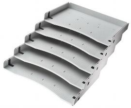 Hammerbacher Formulareinsatz ACSA 5 Schrägablagen für DIN A4 lichtgrau