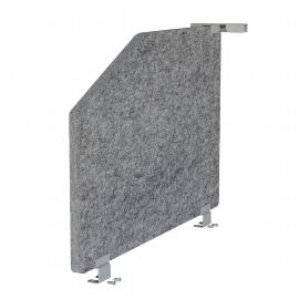 Hammerbacher Akustik-Mittelwand ARS1 für Tische 80cm tief (TxH) 73,5x50cm grau-meliert