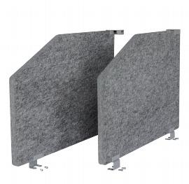 Hammerbacher Akustik-Seitenteil ARS2 Set (2St) für 1 Tisch 80cm tief (TxH) 73,5x50cm grau-meliert