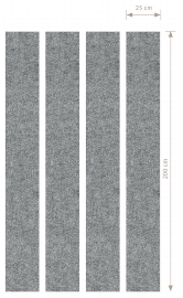 Hammerbacher Akustik-Wandpanel AWP200 (HxB) 200x25cm grau-meliert Pack 4 Stück