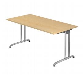 Hammerbacher Schreibtisch Serie BS16 (BxT) 160 x 80cm inkl. Kabelwanne Ahorn