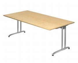 Hammerbacher Schreibtisch Serie BS2E (BxT) 200 x 100cm inkl. Kabelwanne Ahorn