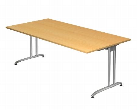 Hammerbacher Schreibtisch Serie BS21 Winkelform 135° (BxT) 210 x 113cm inkl. Kabelwanne Ahorn