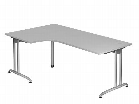 Hammerbacher Schreibtisch Serie BS12 (BxT) 120 x 80cm inkl. Kabelwanne Ahorn