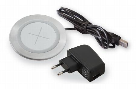 Hammerbacher QI-Ladegerät ELQL01 mit AC/USB Adapter