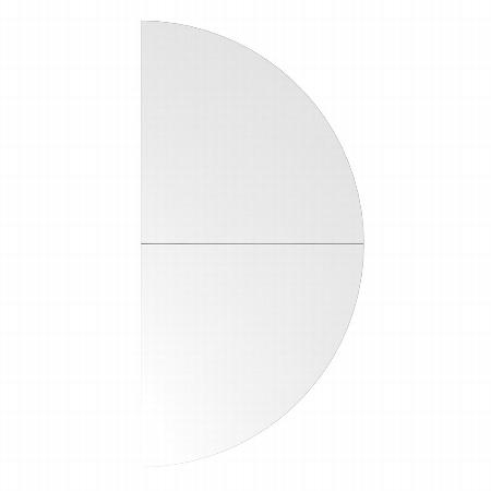 Hammerbacher Ansatztisch HA160 Halbkreis mit Stützfuß (BxT) 160x80cm Ahorn/Silber