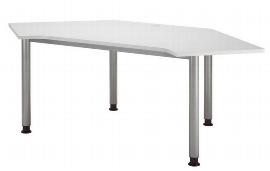 Hammerbacher Callcenter Tisch HC19 Arbeitshöhe 68-76cm einstellbar Grau/Silber