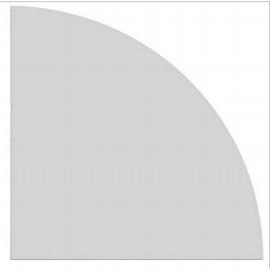 Hammerbacher Eckwinkel HE91 gerundet 90° Tiefe 80x80cm Ahorn