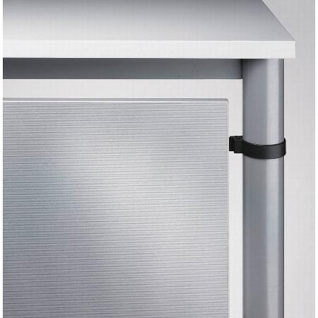 Hammerbacher Rückwandverkleidung HR08 (BxH) 62x40cm für 80cm breite Tische Farbe Silber