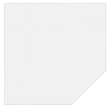 Hammerbacher Trapezplatte HT12 mit Stützfuß (BxT) 120x120cm Ahorn/Silber