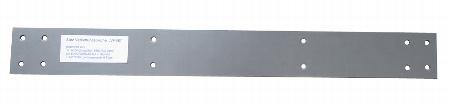 Hammerbacher Verkettungsblech HVB für Anbindung und Verkettung von Schreibtischen 2er-Set Grau