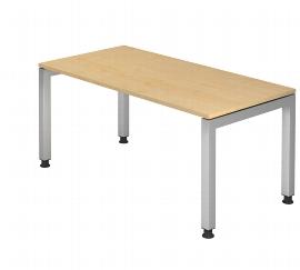 Hammerbacher Schreibtisch Serie JS16 Arbeitshöhe 68-76cm (BxT) 160x80cm Ahorn