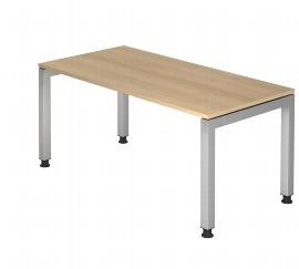 Hammerbacher Schreibtisch Serie JS19 Arbeitshöhe 68-76cm (BxT) 180x80cm Ahorn