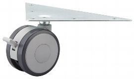 Hammerbacher Doppellaufrollen KBRO je 2x gebremst/ungebremst Höhe ca.9cm