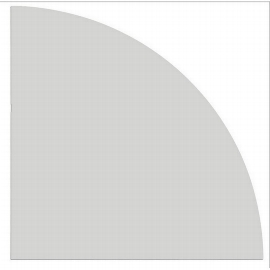 Hammerbacher Eckwinkel LE91 gerundet 90° (BxT) 80x80cm Ahorn