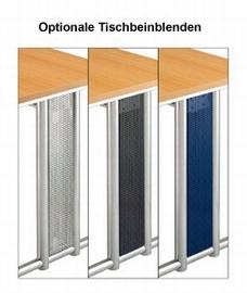 Hammerbacher Schreibtisch Serie NS19 (BxT) 180x80cm inkl. Kabelwanne Ahorn/Silber