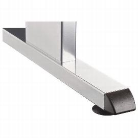 Hammerbacher Schreibtisch Serie OS21 Winkelform 135° Arbeitshöhe 65-85cm (BxT) 210x113cm Ahorn/Silber