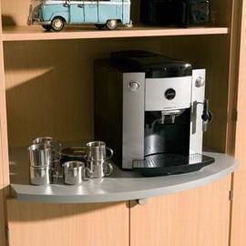 Hammerbacher Ablageplatte COFFEE PAB8 Stellplatte für Kaffeemaschine (BxT) 76,2x60cm Silber