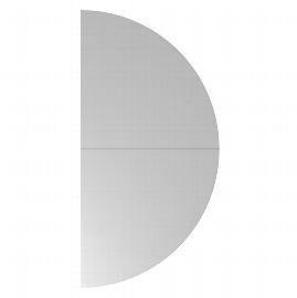 Hammerbacher Ansatztisch QA160 Halbkreis mit Stützfuß (BxT) 160x80cm Ahorn/Silber