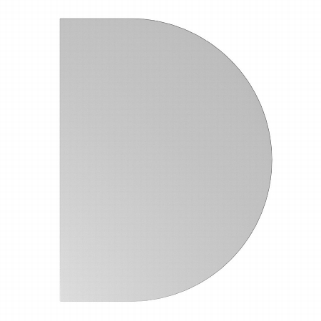 Hammerbacher Ansatztisch QA60 mit Stützfuß (BXT) 60x80cm Ahorn/Silber