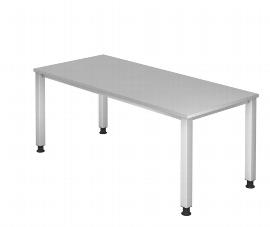 Hammerbacher Schreibtisch Serie QS2E (BxT) 200x100cm Arbeitshöhe 68,5-83,5cm Ahorn/Silber