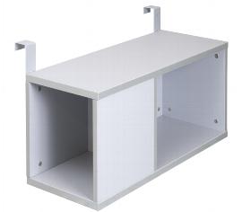 Hammerbacher Einhänge-Container RBOX08 (BxTxH) 80x32x38cm für Schreibtischserie RS mit 80cm Tiefe Farbe Silber