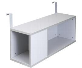 Hammerbacher Einhänge-Container RBOX10 (BxTxH) 100x32x38cm für Schreibtischserie RS mit 100cm Tiefe Farbe Silber