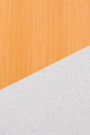 Hammerbacher Sideboard SB2T Türen mit Chromgriff (BxTxH) 166,1 x 44,8 x 84cm Ahorn