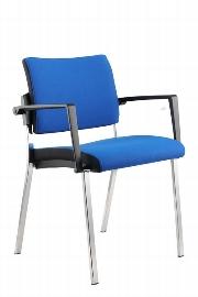 Hammerbacher Besucherstuhl SBP1/B Professional Design-Bezug Blau (nur im 2er Set erhältlich) VE:2 Stück