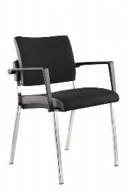 Hammerbacher Besucherstuhl SBP1/D Professional Design-Bezug Schwarz (nur im 2er Set erhältlich) VE:2 Stück