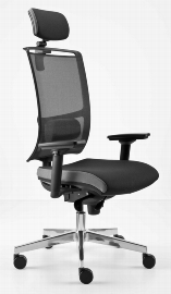 Hammerbacher Bürodrehstuhl SDP2/D Premium 2 mit Netzrücken Schwarz