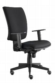 Hammerbacher Bürodrehstuhl SDS1/D Solid hochwertiger Stoffbezug Schwarz