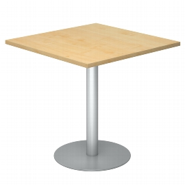 Hammerbacher Besprechungstisch STF88 Gestell Silber Tischplatte viereckig 80x80cm Ahorn/Silber